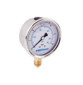 Manomètres en inox vertical mbar 1/2 et 1/4 - Preciman