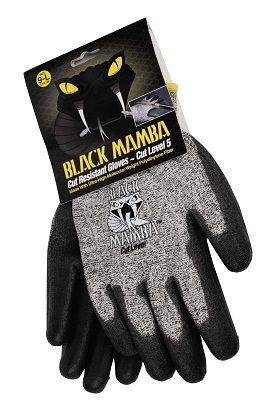 Paire de gants anti-coupure taille M à XL - Black Mamba