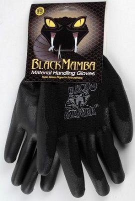 Paire de gants nylon / polyuréthane taille L à XL - Black Mamba
