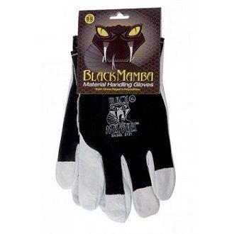 Paire de gants cuir / coton taille L à XL - Black Mamba