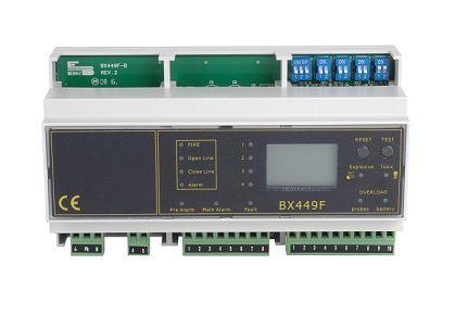 Centrale de détection gaz industriel rail DIN 8 sondes - D-TEK