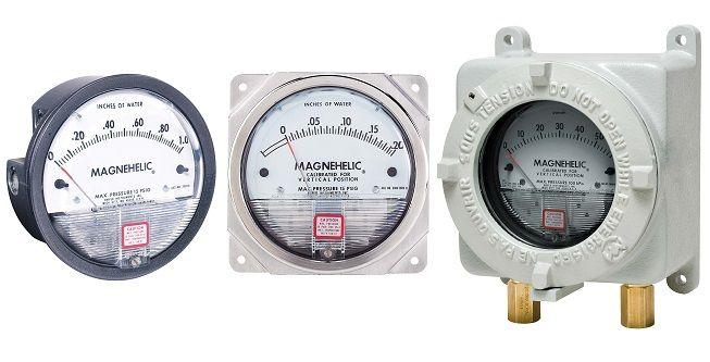 Manomètre différentiel air / gaz neutres - Série 2000 - Magnehelic