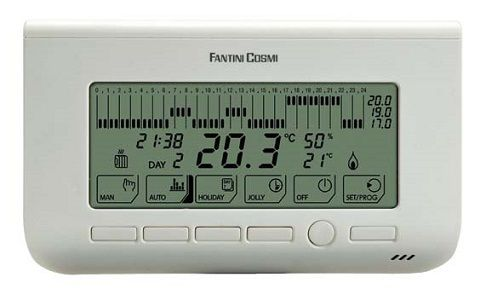 Chrono-thermostat à programme hebdomadaire - Fantini Cosmi