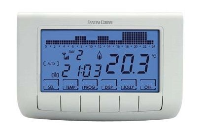 Chrono-thermostat hebdomadaire + modem GSM CH140GSM Fantini Cosmi