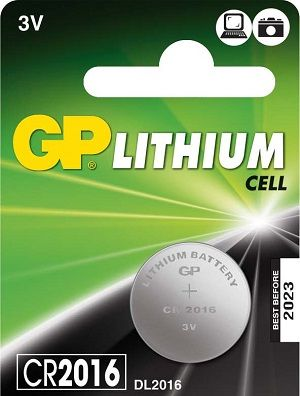 Pile bouton lithium 3V - CR2016 - Duracell (En carte de 5 piles)