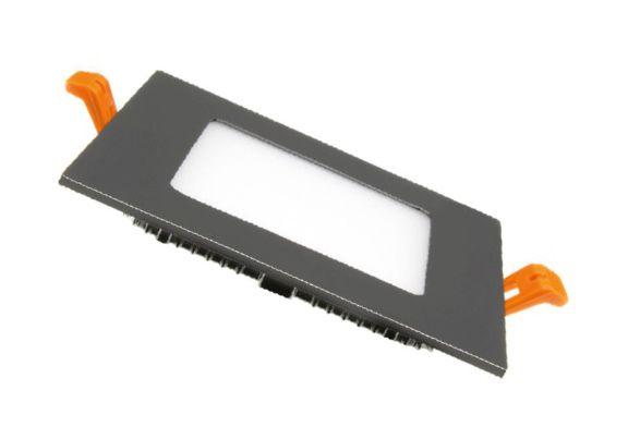 Dalle LED carrée extra plate cadre noir - 6W, 12W, 15W, 18W