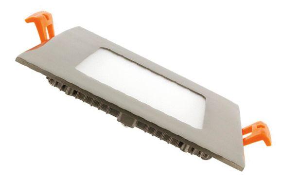 Dalle LED carrée extra plate cadre argenté - 6W, 12W, 15, 18W