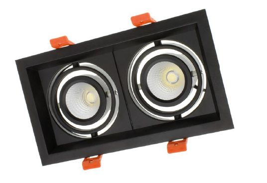 Spot LED Créé-COB Madison orientable 2x10W - Noir ou blanc