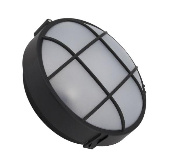 Plafonnier à grille rond hublot