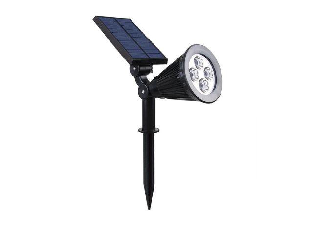 Spot LED solaire sur piquet IP65