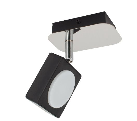 Applique LED murale orientable Capri 1 spot 6 W noir