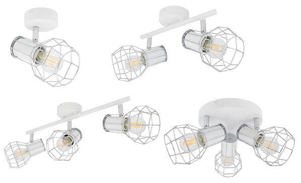 Applique murale et lampe de plafond orientable Lada spots blanc