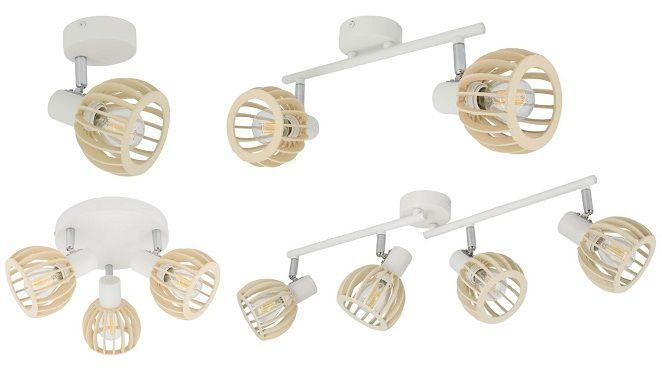 Applique murale et lampe de plafond orientable Chira spots blanc