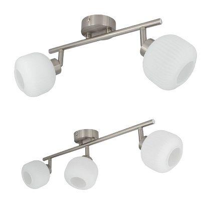 Lampe de plafond orientable Enna spots blanc