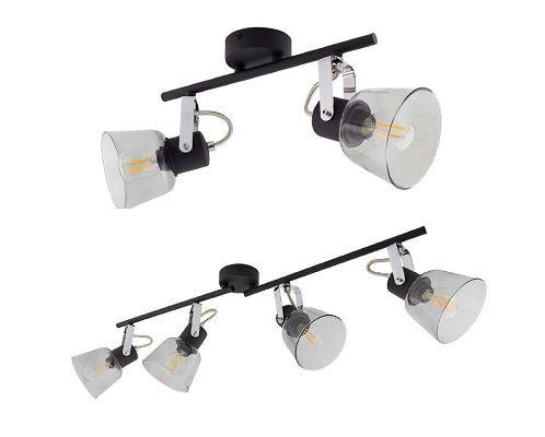 Lampe de plafond orientable Tivo spots noir