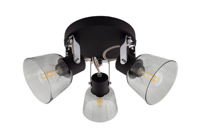 Lampe de plafond ronde orientable Tivo 3 spots noir
