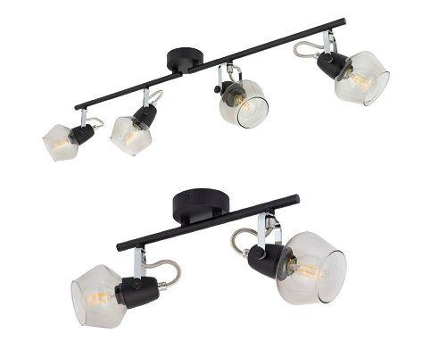 Lampe de plafond orientable Sipi spots noir