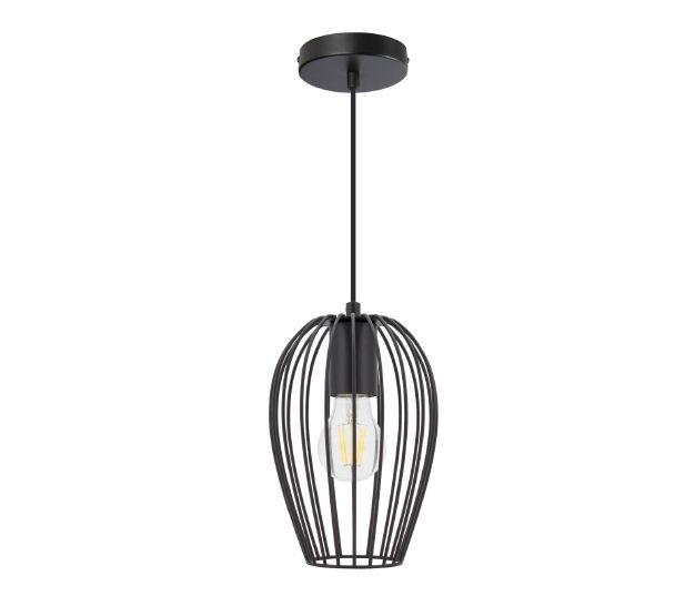 Lampe suspendue Telmi (noir, ciment)