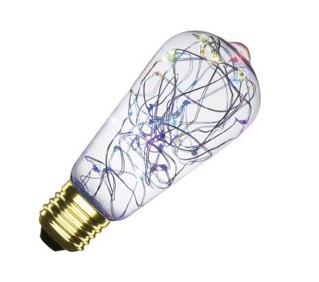 Ampoule LED E27 dimmable filament Lum Lemmon RGB ST58 1W