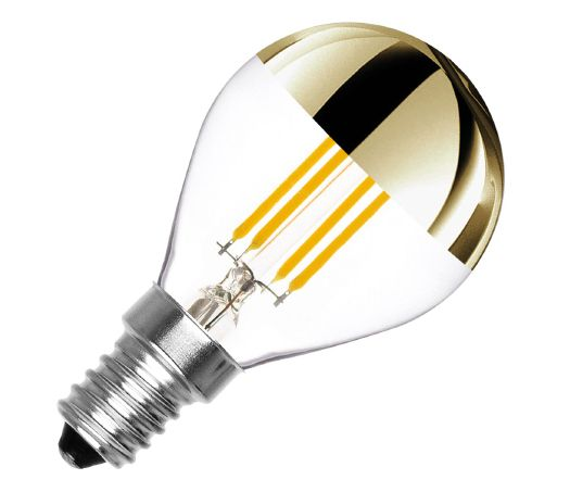 Ampoule LED E14 dimmable filament Gold Reflect G45 3.5W