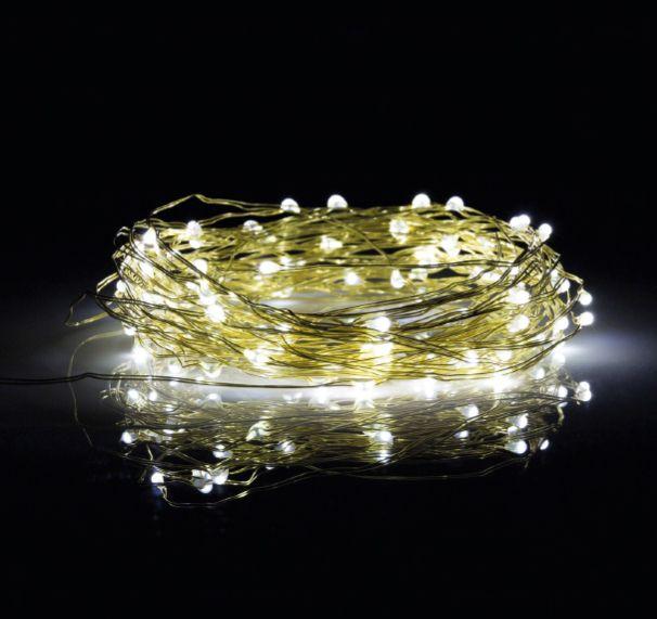 Guirlande de fils de fer LED (dorée, chromée, or rosé)