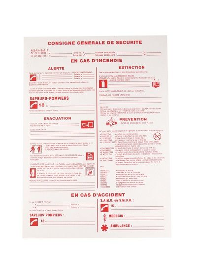 Étiquettes rigides de sécurité - Signalétique