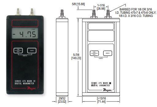 Manomètre numérique portatif - Série 475 - Dwyer