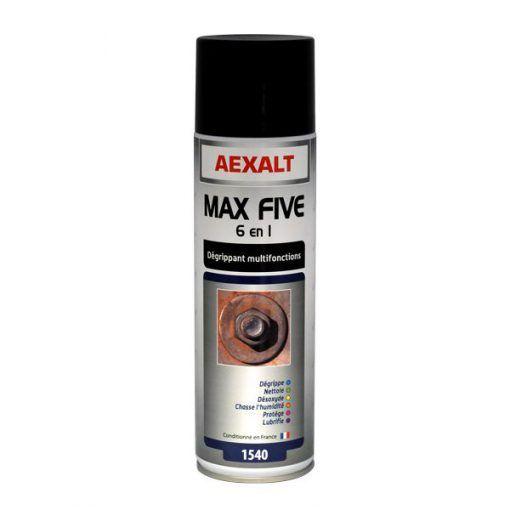 Dégrippant multifonctions 6 en 1 MAX FIVE aérosol 650ml Aexalt