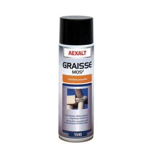 Graisse MOS2 spéciale extrême pression aérosol 650ml Aexalt
