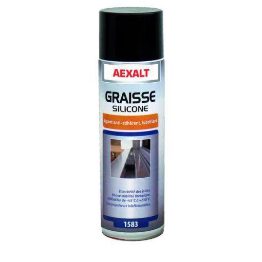 Graisse silicone avec agent anti-adhérent aérosol 650ml Aexalt