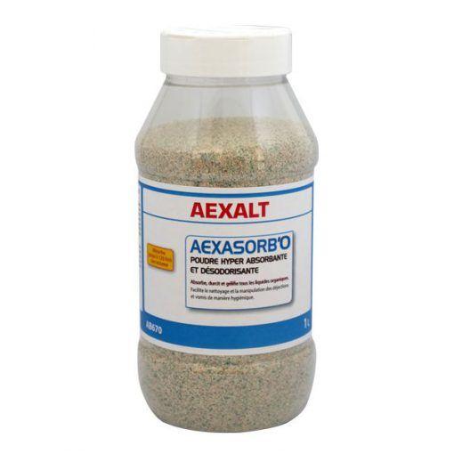Poudre hyper absorbante et désodorisante 1kg AEXASORB'O Aexalt