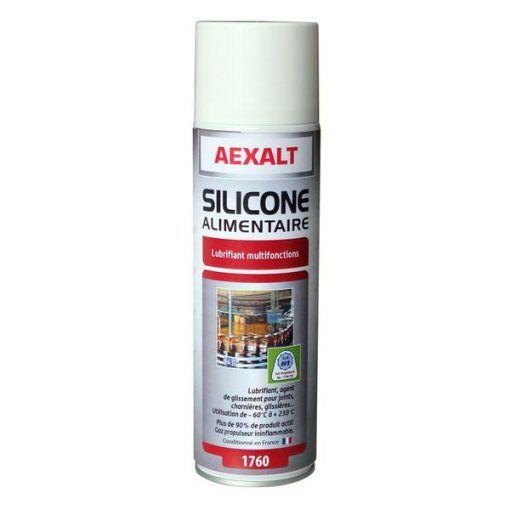 Silicone alimentaire lubrifiant mécanismes aérosol 650ml Aexalt