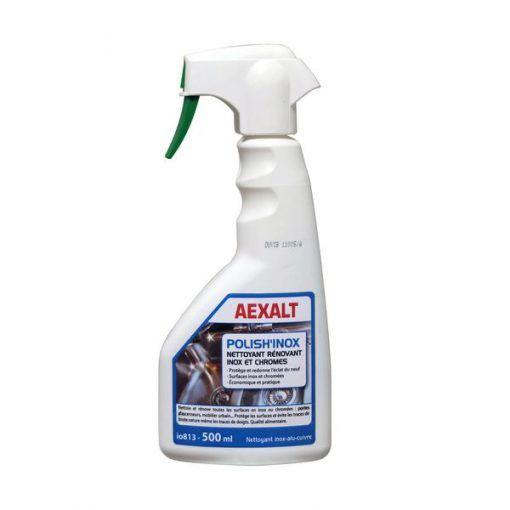 Liquide nettoyant lustrant inox chromes 500ml POLISH\'INOX Aexalt
