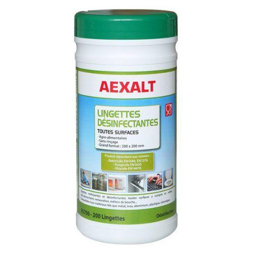 Lingettes désinfectantes mains et surfaces Aexalt