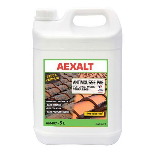 Anti-mousse murs toitures terrasses prêt à l\'emploi Aexalt