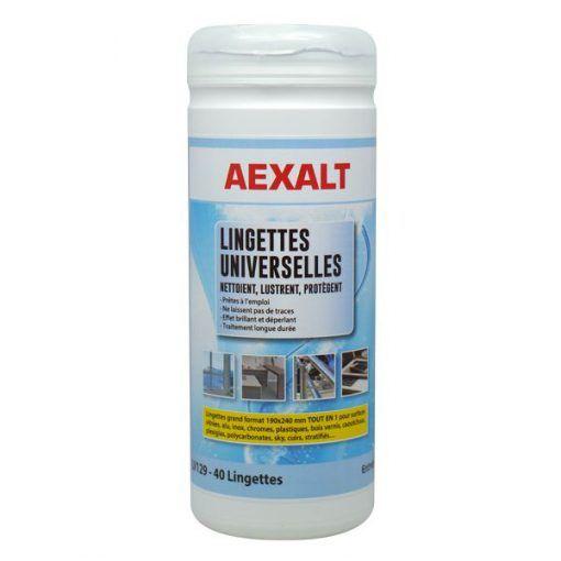 Lingettes universelles et lustrantes prêtes à l\'emploi AEXALT