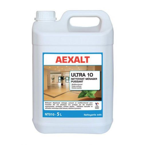 Nettoyant multi-usage pour sols 5L ULTRA 10 Aexalt