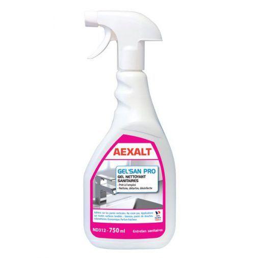 Gel nettoyant désinfectant sanitaires 750ml GEL'SAN PRO Aexalt