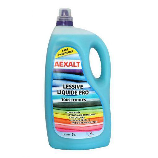Lessive liquide concentrée tous textiles 5L Aexalt