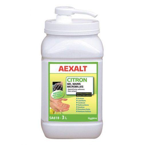 Gel mains microbilles citron sans solvant Aexalt