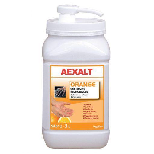 SA612 gel mains microbilles orange aexalt