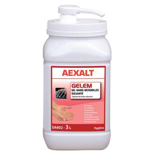 Gel mains microbilles Gelem solvanté Aexalt