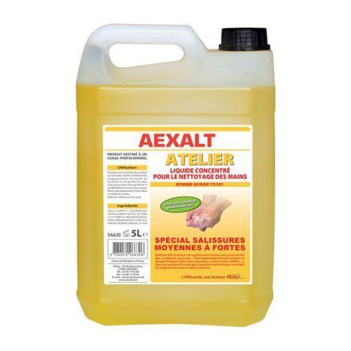 Savon liquide concentré 5L spécial salissures fortes AEXALT ATELIER
