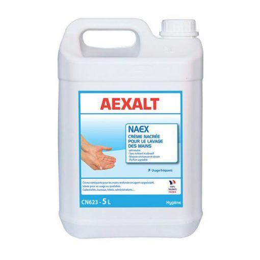 Crème nacrée douce pour le lavage des mains 5L NAEX Aexalt