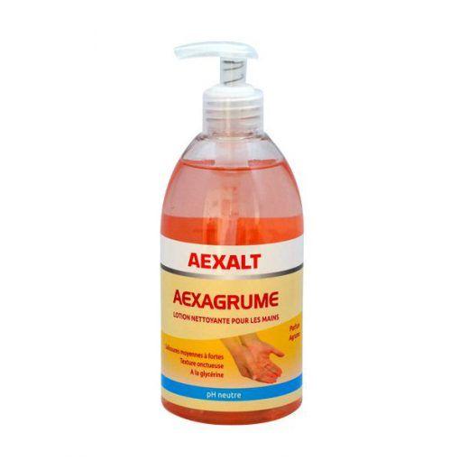 Lotion nettoyante pour les mains flacon 500ml AEXAGRUME Aexalt