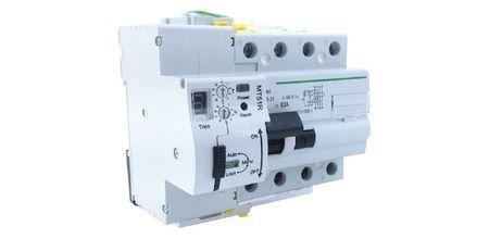 Interrupteur différentiel réarmable 4P 63A 300mA 10kA Maxge