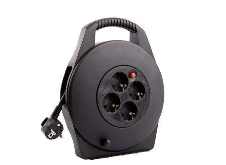 Enrouleur extensible noir 10m Maxge