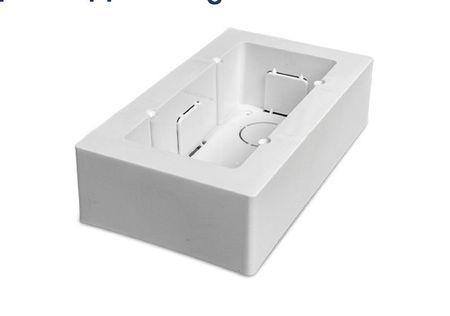 Boîtier double universel blanc saillie pour appareillage 161x92x42