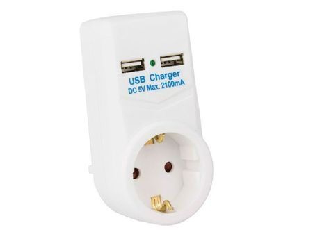 Chargeur prise électrique avec 2 ports USB