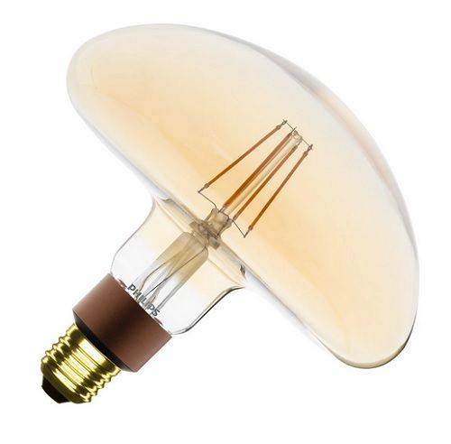 Ampoule LED E27 Dimmable Filament Gold Classic Philips Mushroom 5W